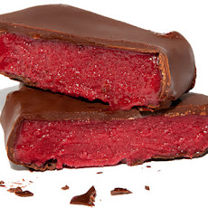 Chocolate-Dipped Raspberry Sorbet Bars Recipe