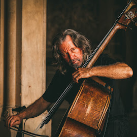 The Bassist by Kevin Case - People Musicians & Entertainers ( street performers, canon, cellist, kevin case, kevdia photography, canon photography, nyc, new york city, cello, kevdia )