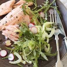 Baked Trout With Fennel, Radish & Rocket Salad