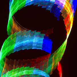 Spinner ! by Jim Barton - Abstract Patterns ( spinner, light painting, laser light, colorful, light design, laser design, spin, laser, light, science )