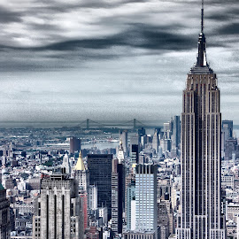 Empire State by Darren Harrison - City,  Street & Park  Skylines ( skyline, empire state building, new york city, nyc, city )