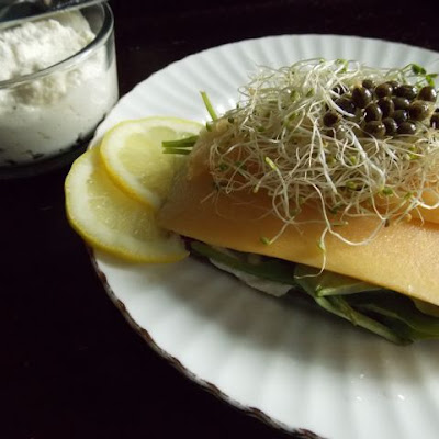 Creamy Papaya Carpaccio Open Faced Sandwich