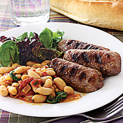 Cannellini Beans with Grilled Italian Sausage