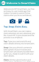 Screenshot of HIF SmartClaim