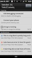 Screenshot of JS Log