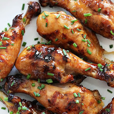 Sweet 'n Spicy Asian Glazed Grilled Drumsticks