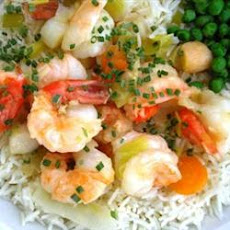 King Prawn and Scallop in Ginger Butter
