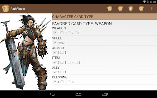 Screenshot of Pathfinder ACG player aid