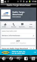 Screenshot of Radio Fargo Moorhead