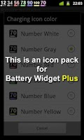 Screenshot of Battery Widget Icon Pack 4