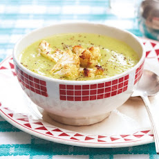 Cauliflower and Arugula Soup