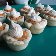 Mini Sweet Potato Pies W/ Whipped Cinnamon Cream Cheese Topping