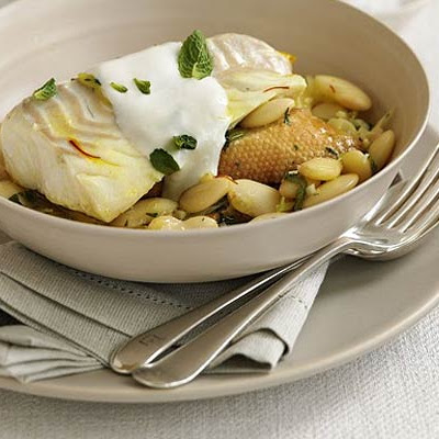 Braised Cod With Butter Beans & Mint