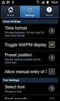 Screenshot of EZ Clock Wallpaper Pro