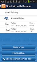 Screenshot of cambio CarSharing