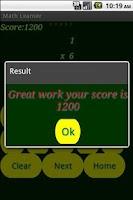 Screenshot of Math Gamer