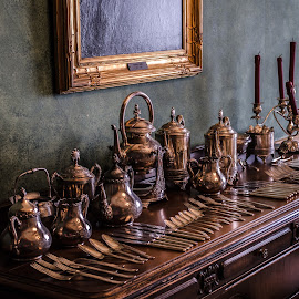 Antiqued  by Calvin Morgan - Artistic Objects Cups, Plates & Utensils ( hackley house, silver, silverware, brass, nikon d7000, antique )