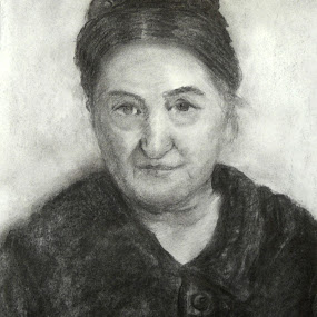 Grandmother by Jasna Dragun - Drawing All Drawing ( charcoal, drawing, portrait,  )