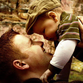 father and son by Tiffany Brewer Shaw - People Family