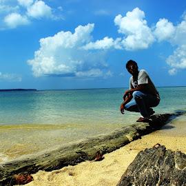Andaman beach by Suvra Dutta - Landscapes Beaches ( water, sand, sky, tree, beach )