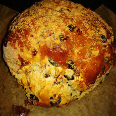 HomeMade Olive Bread With Sun-dried Tomatoes