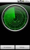 Screenshot of Radar Clock Live Wallpaper