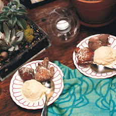 Apple Fritters with Bourbon Ice Cream