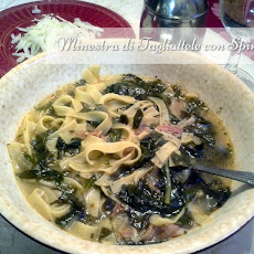 Tagliatelle Soup with Spinach