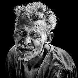 Despair by Indranil Bhattacharjee - People Portraits of Men ( ignitedimages, blackandwhite, bnw, people, portrait, indranil,  )