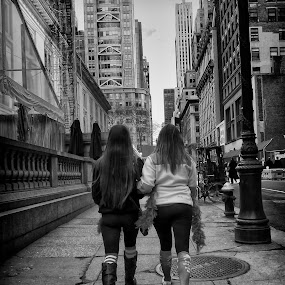 Walkers by Alan Roseman - Black & White Street & Candid ( st. patty, lumix, street, city life, nyc, new york city, st. patrick,  )