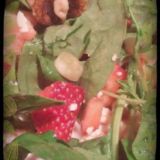 Strawberry Maple Spinach Salad