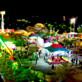 Carnival - Mini Series by Megan Smith - City,  Street & Park  Amusement Parks ( colorful, carnival, rollar coasters, people, tilt shift )