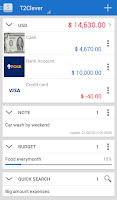 Screenshot of T2Expense - Money Manager