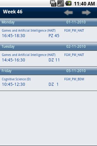 Uvt Schedule