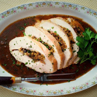 Stuffed Turkey Breast Marsala (or Poor Man's Veal)