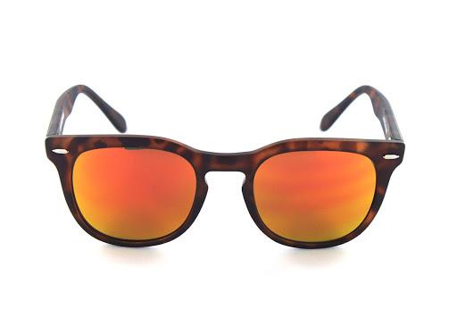 Spektre Memento Audere Sempre Mate. Tortoise Shell Wayfarer mirrored sunglasses