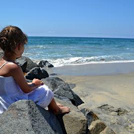 Serenity  by Sarahkaye Ferguson - Babies & Children Child Portraits ( child, serenity, ocean, beach, photography )
