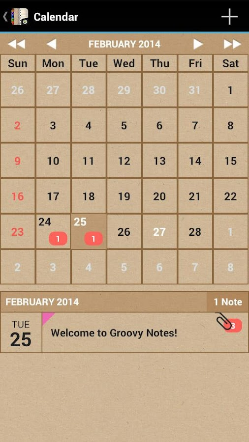 Groovy Notes - Personal Diary Screenshot 3