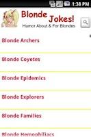 Screenshot of Blonde Jokes!
