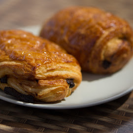 chocolate croissants by Christopher Wu - Food & Drink Plated Food