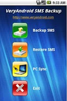 Screenshot of VeryAndroid SMS Backup