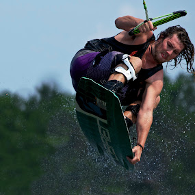 by Jeannette Thalmann-Bendeth - Sports & Fitness Watersports ( sws, summer water sports, wakeboard, sparrow lake, obrien, canada, ben )