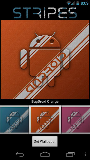 Striped Android Wallpaper
