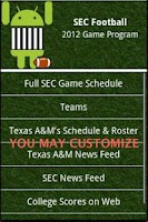 Screenshot of SEC Football Guide 2013