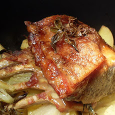 Roast Rack of Pork with Fennel and Honey Mustard