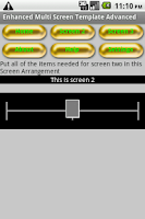 Screenshot of Multiscreen with slider