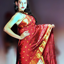 The Assamese Attire (Female) by Anurag Das - People Fashion (  )