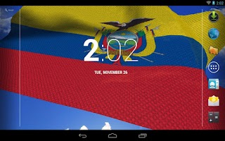 Screenshot of 3D Ecuador Flag Live Wallpaper