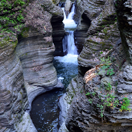 Mother Natures Finest by Deirdre Cavener - Landscapes Waterscapes ( waterfall, watkins glen, new york )