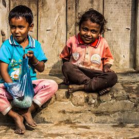 laughter moment by Shuvarthy Chowdhury - Babies & Children Children Candids